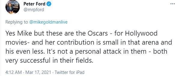 पत्रकार की ट्वीट का स्क्रीनशॉट.