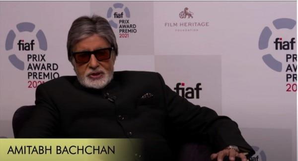 इंटरनेशनल फेडरेशन ऑफ फिल्म अवॉर्ड शो के वर्चुअल फंक्शन में अमिताभ बच्चन.