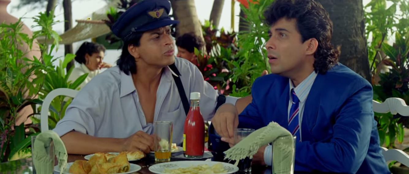 फिल्म 'कभी हां कभी ना' के एक सीन में शाहरुख खान और दीपक तिजोरी.