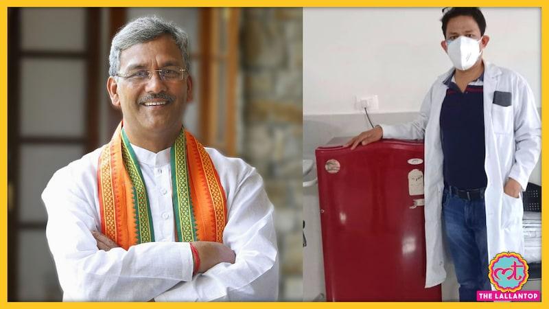 उत्तराखंड के पूर्व CM ने घर का फ्रिज अस्पताल पहुंचाया, तो लोगों ने क्लास लगा दी
