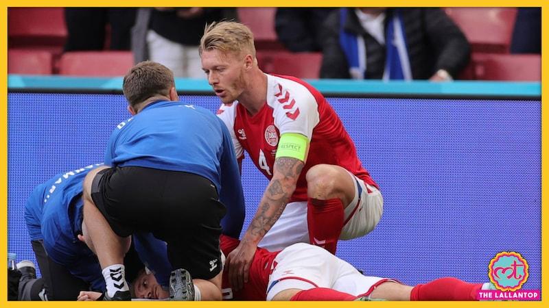 यूरो कप मैच के 43वें मिनट में डेनमार्क का ये स्टार खिलाड़ी अचानक बेहोश होकर गिर पड़ा