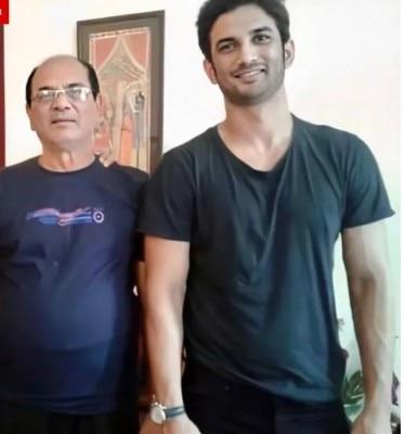 सुशांत सिंह राजपूत अपने पिता के साथ.
