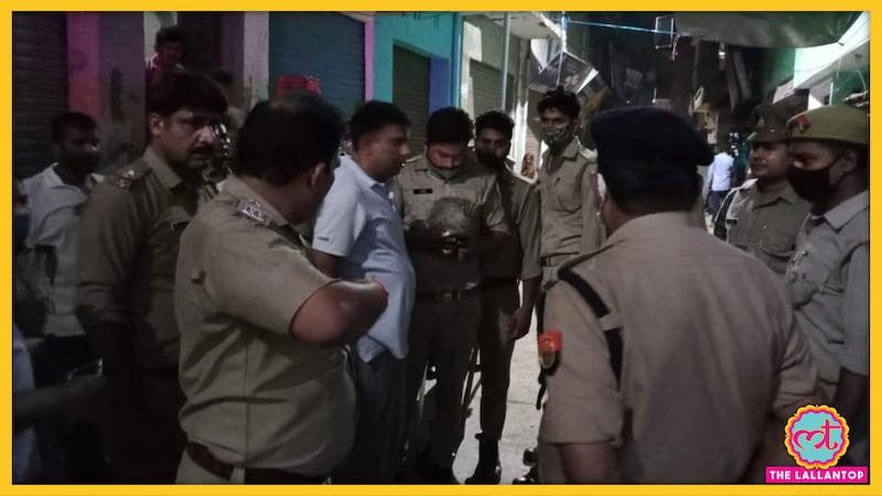 RSS नेता को चांटा मारने वाले निलंबित दारोगा को भरे बाजार पीटा