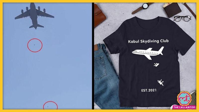 धंधेबाजों ने अफगानिस्तान की त्रासदी को भी नहीं छोड़ा, 'Kabul Skydiving Club' नाम से टीशर्ट बेच रहे!