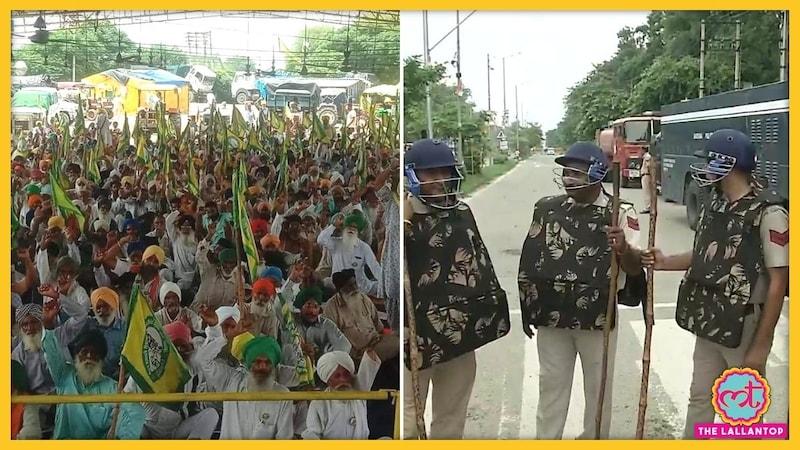 करनाल में किसान महापंचायत को लेकर चप्पे-चप्पे पर पुलिस, हरियाणा के मंत्री ने दी चेतावनी