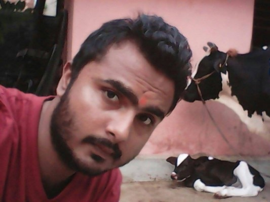 selfie with cow 1