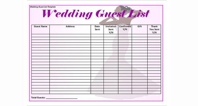 Create your guest list