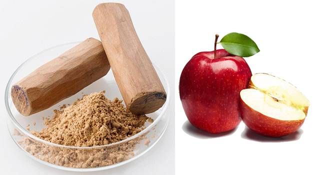 Apples can banish the dullness from your face.