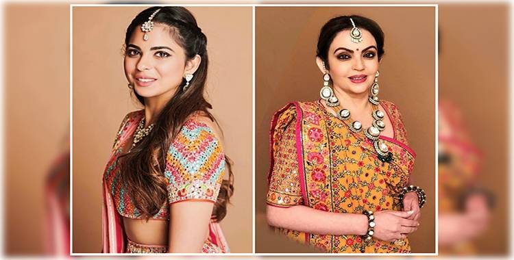 Isha Ambani's pre-wedding celebrations start: Her traditional Gujarati threadwork lehnga is gorgeous!