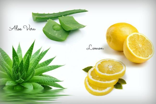 Aloe Vera and lemon