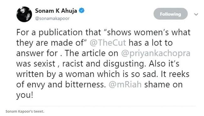 Sonam Kapoor Tweeted