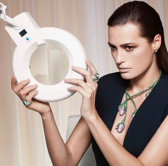 Yasmin Le Bon suggests a combination of Thermage-a non-invasive