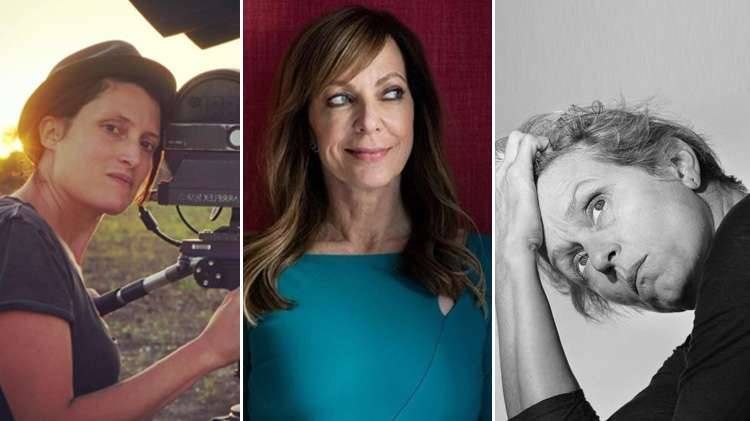 From left, Rachel Morrison, nominee Best Cinematography, Alison Janney, Best Actress in a Supporting Role and Frances McDormand, Best Actress. Photo Courtesy Instagram