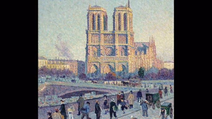 Maximilien Luce's Neo-Impressionist View of the Notre-Dame