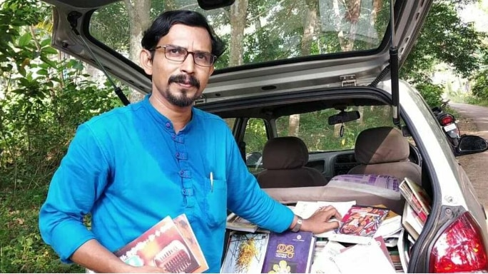 Lockdown Heroes: Kerala Professor Converts His Car Into A Mobile Library