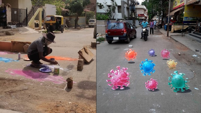 Bengaluru's 'Pothole Artist' Nanjundaswamy Now Shifts His Focus To Coronavirus