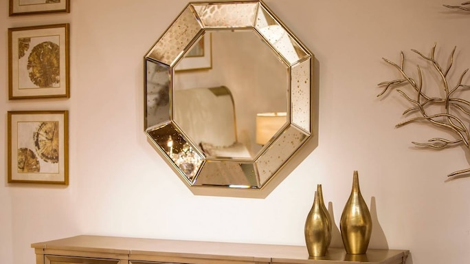 Want Your Living Room To Grab More Eyes A Wall Mirror Can Do The Trick